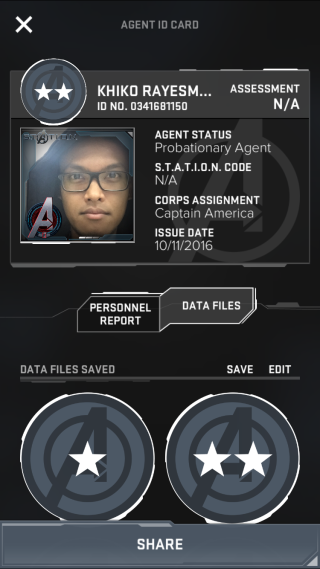 ID Card Marvel Avengers